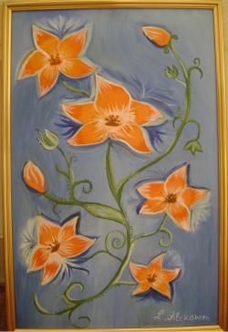 Picturi cu flori Orange flowers