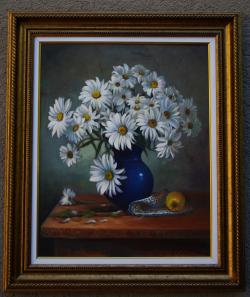 Picturi cu flori flori albe 001