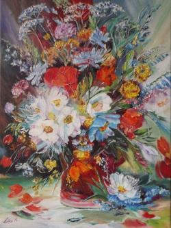 Picturi cu flori Buchet de primavara la cana
