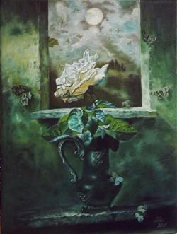 Picturi cu flori Fluturi