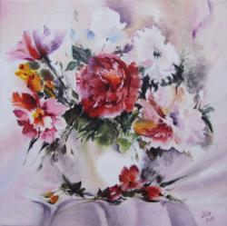 Picturi cu flori Vara din vaza