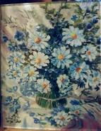 Picturi cu flori Vas cu flori albastre