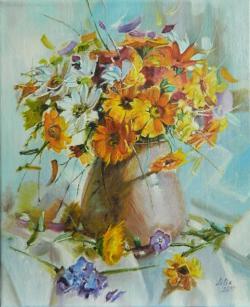 Picturi cu flori Vaza cu flori de vara