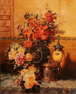 Picturi cu flori Vaza cu micsunele