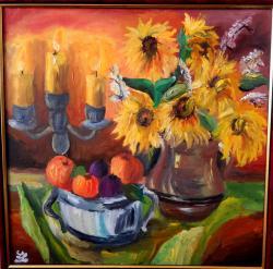 Picturi cu flori Lumini si umbre