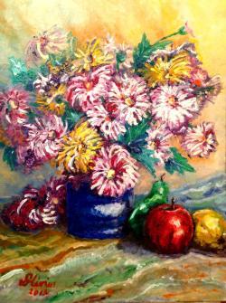 Picturi cu flori Crizanteme (L.D.)