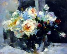 Picturi cu flori Vas cu trandafiri