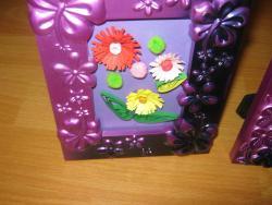 Picturi cu flori rama mov 1