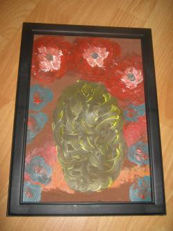 Picturi cu flori vaza ciudata