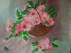 Picturi cu flori Armonie in roz