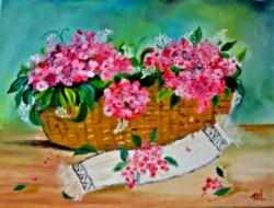 Picturi cu flori Cos cu dor