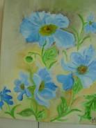 Picturi cu flori Din albastrul cerului