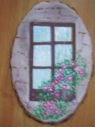 Picturi cu flori Florile din fereastra