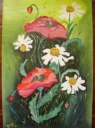 Picturi cu flori Maci si musetel