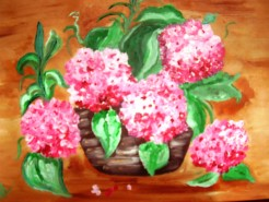 Picturi cu flori Parfum de hortensii