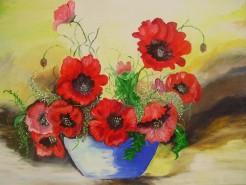 Picturi cu flori Petale de foc