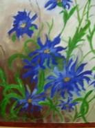 Picturi cu flori Primavara albastra