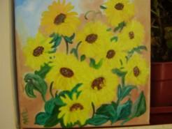 Picturi cu flori Raze de soare