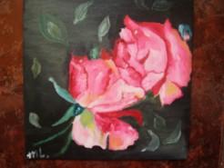 Picturi cu flori Sarutul