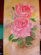 Picturi cu flori Trandafiri in ianuarie