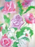 Picturi cu flori Ultimii trandafiri din an
