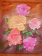 Picturi cu flori Un zambet in iarna