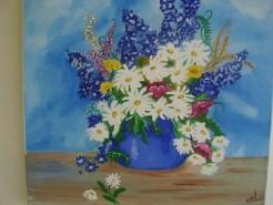 Picturi cu flori Vara albastra