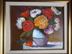 Picturi cu flori Flori in oala