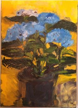 Picturi cu flori Hortensie albastra
