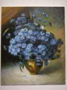 Picturi cu flori Vas cu flori, albastrele