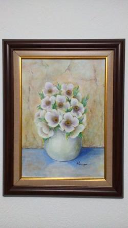 Picturi cu flori Anemone in vaza