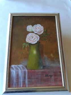 Picturi cu flori Anemone roz