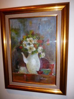 Picturi cu flori flori in vas de portelan