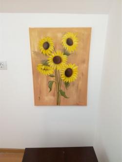 Picturi cu flori  Floarea soarelui IV