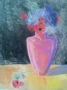 Picturi cu flori Pastel vaza cu flori