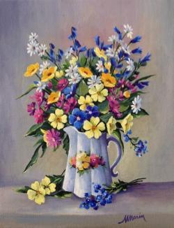 Picturi cu flori Florile campului.