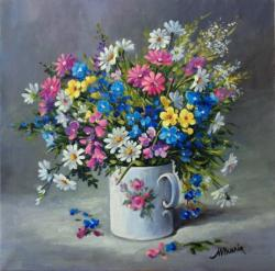 Picturi cu flori Surorile campului