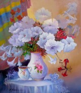 Picturi cu flori       flori petunii----43