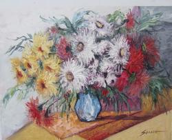 Picturi cu flori crizanteme--c71