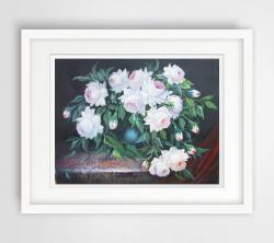 Picturi cu flori flori cu alb nevinovat