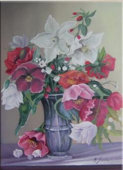 Picturi cu flori flori de gradina--6bb