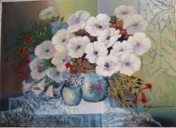 Picturi cu flori flori petuni 11