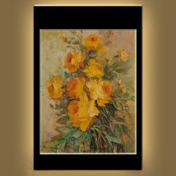 Picturi cu flori trandafiri galbeni--99z