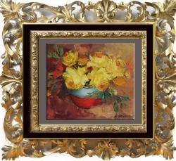 Picturi cu flori trandafiri in spaclu-88b