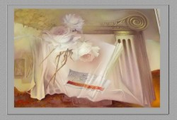 Picturi cu flori Trandafiri invaluiti in mister--191