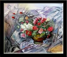 Picturi cu flori Trandafiri rosii------165