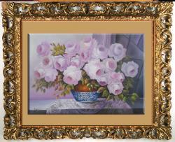 Picturi cu flori trandafiri roz  jk1