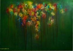 Picturi cu flori Abur de petale