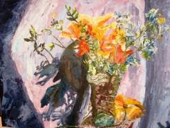 Picturi cu flori Maci galbeni