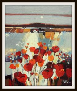 Picturi cu flori Inserarea macilor